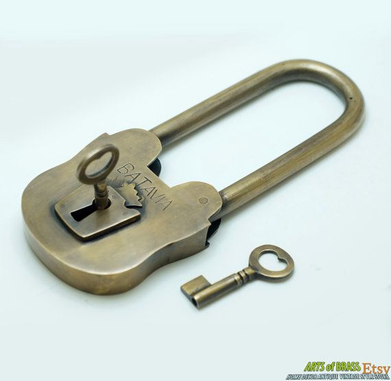 15 best padlock home decor antique vintage solid brass for Lock and key decor