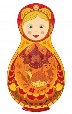 Russian doll national symbol Matryoshka: Photo