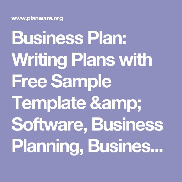 Business Plan: Writing Plans with Free Sample Template & Software, Business Planning, Business Planner, Business Plan Software, Business Plan Template, Sample Business Plan