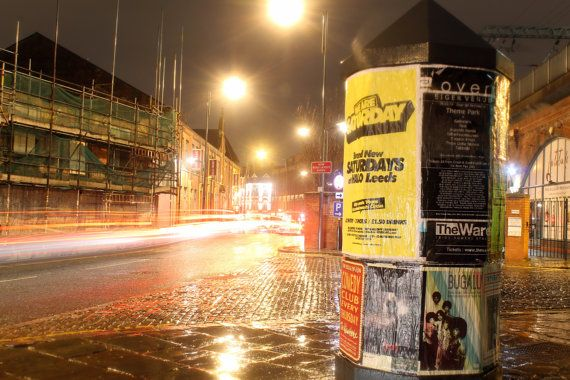 Traveling Through Leeds at Night by DWhitePhotography on Etsy