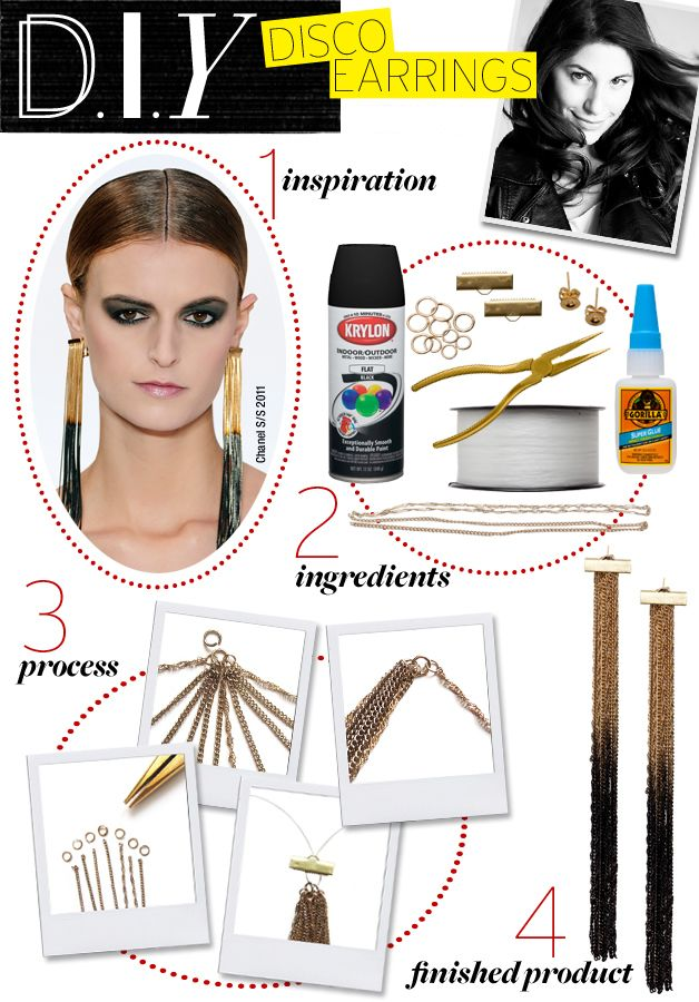 Fashion Chain Tassel EarringFree Diy Jewelry Projects | Learn how to make jewelry - beads.us