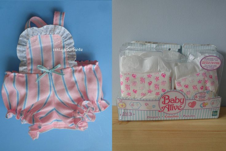 Baby Alive Doll Diapers NEW & HTF Original Romper Excellent #Hasbro