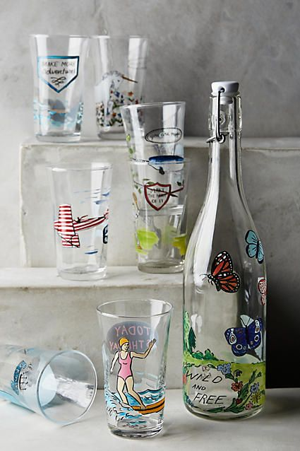 Menagerie Juice Glass - anthropologie.eu  Fun usable work of ceramicist-designer Molly Hatch, a playful take on any drink.