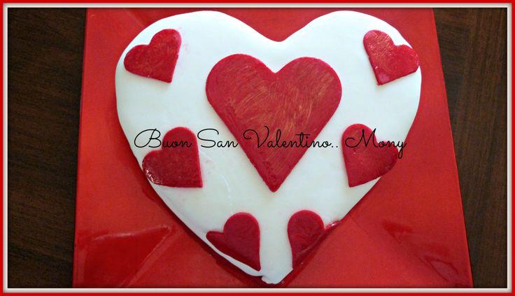 la mia torta di San Valentino..