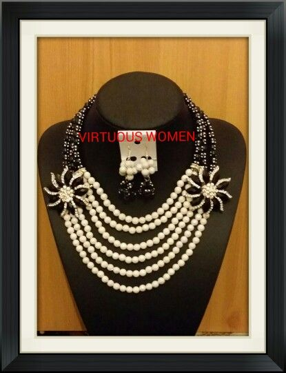 White and black beads