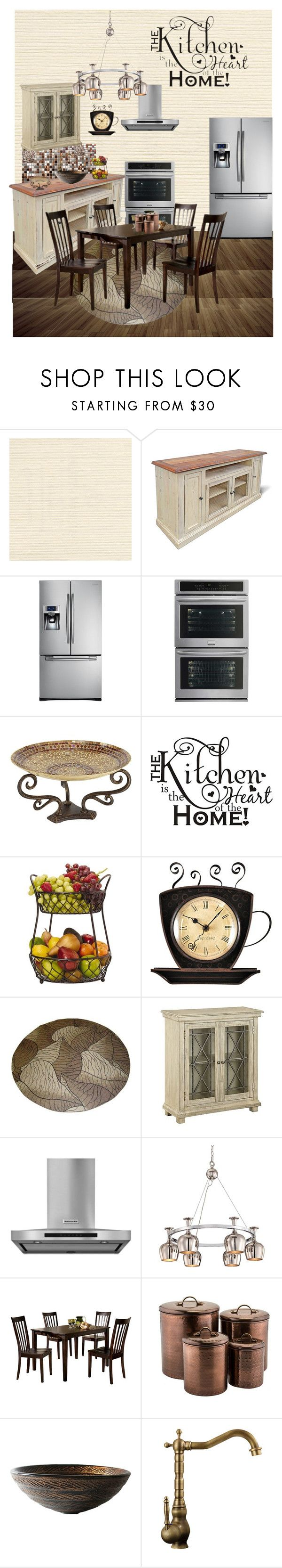 """""""Kitchen Remodel Inspiration"""" by blondemommy ❤ liked on Polyvore featuring interior, interiors, interior design, home, home decor, interior decorating, WALL, Samsung, Frigidaire and Pier 1 Imports"""
