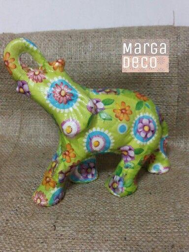 Elefantes decoupage