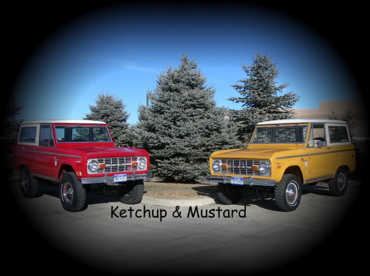 Funny the one the right looks just like mine!  Classic Bronco - where's the relish?