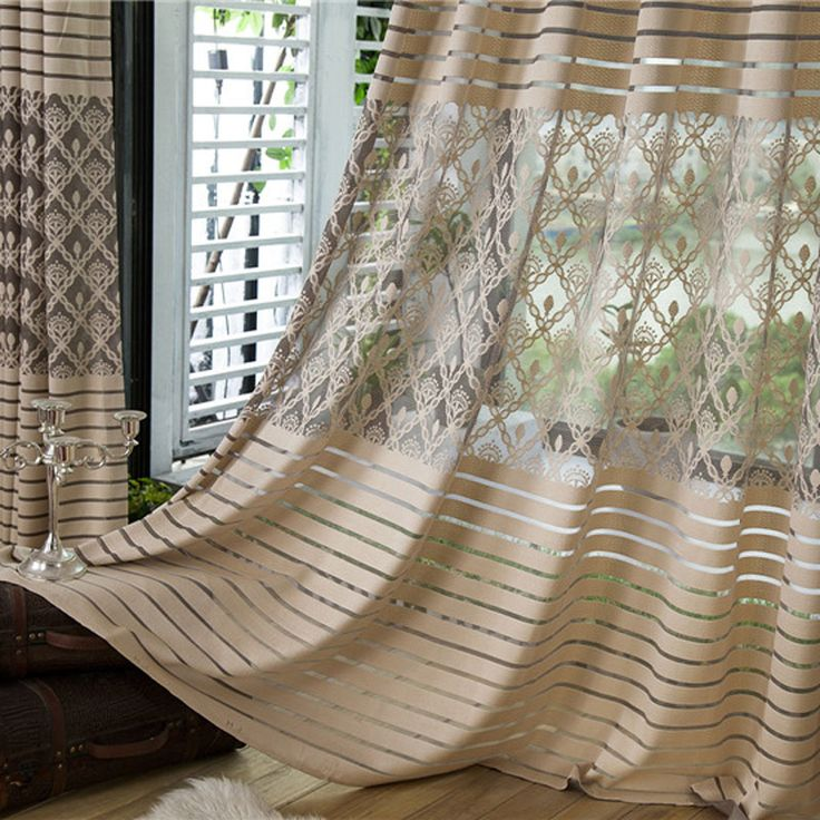 Cheap tulle curtains, Buy Quality jacquard comforter directly from China jacquard carpet Suppliers: Hot grey modern shade net window sheer curtains for living room the bedroom kitchen blinds windows treatments rid