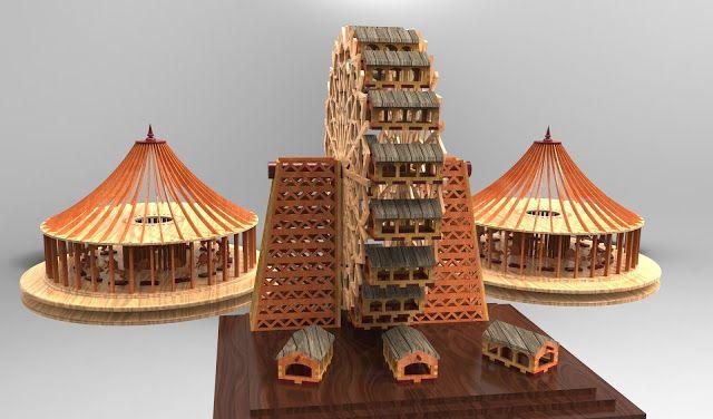 3DPUZZLE: WOODCRAFT 3D PUZZLE PROJECT - FERRIS WHEEL