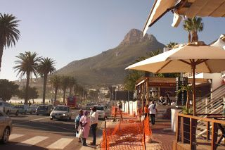 Lunch in Camps Bay, Cape Town, SA.
