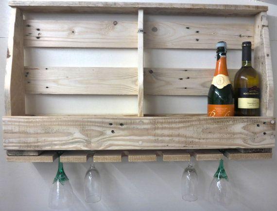 Pallet wijn Rack handgemaakte rustiek door WingerworthWoodWorks