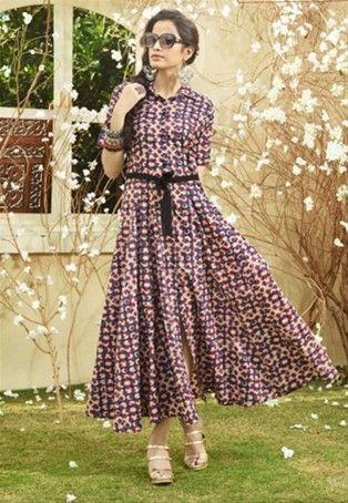 75c050e8bd Readymade Multicolor Lawn Cotton Printed Anarkali Kurti #stylishkurti  #stylishtunic #designer #Kurti #nikvik #sale #usa #australia #canada #tunic  #dress