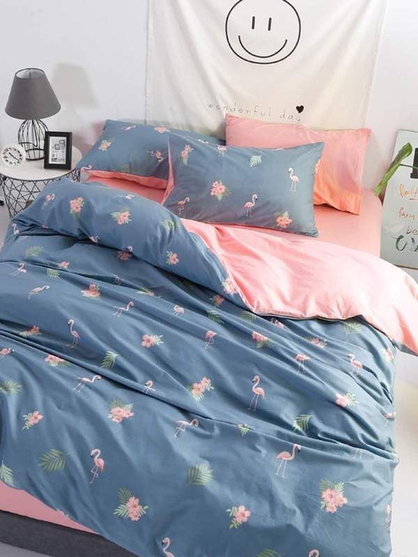 24+ Flamingo and flower print bedding inspirations
