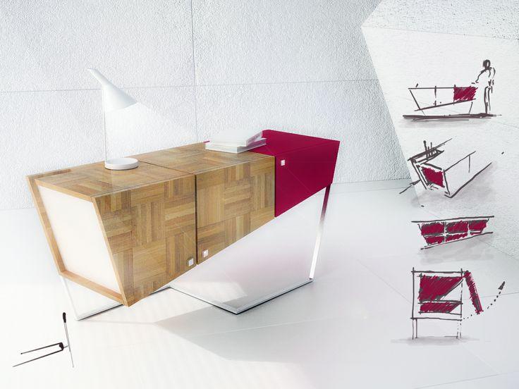 ejercicio de diseño D H - mueble - 3d max + vray + photoshop