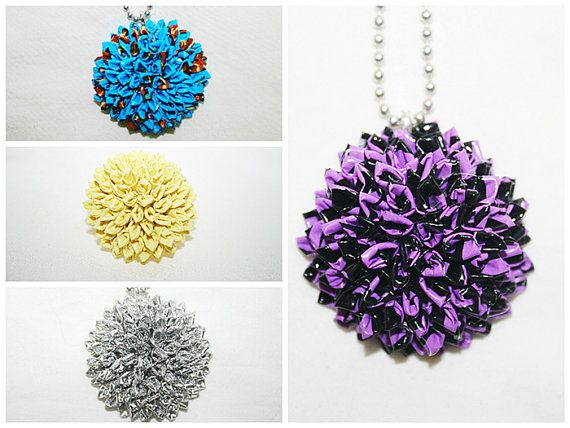 PDF Tutorial for Advanced Duct Tape Crafters How To Make A Rolled Petal Circular Duct Tape Ring and Necklace
