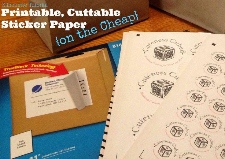 Silhouette White Sticker Paper Alternative (On the Cheap) ~ Silhouette School