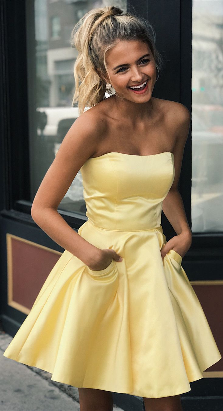 2c22882a6dd Yellow Fitted Homecoming Dresses