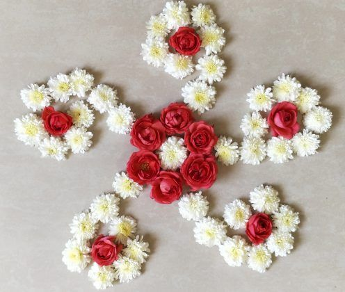 Image result for flower rangoli