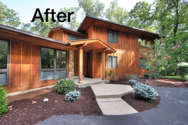The Before Amp After Story Of Cedar Siding Replacement