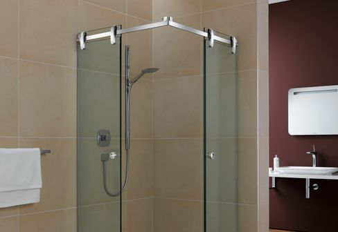 Shower cubicles: Prisma Shower System by MWE at STYLEPARK