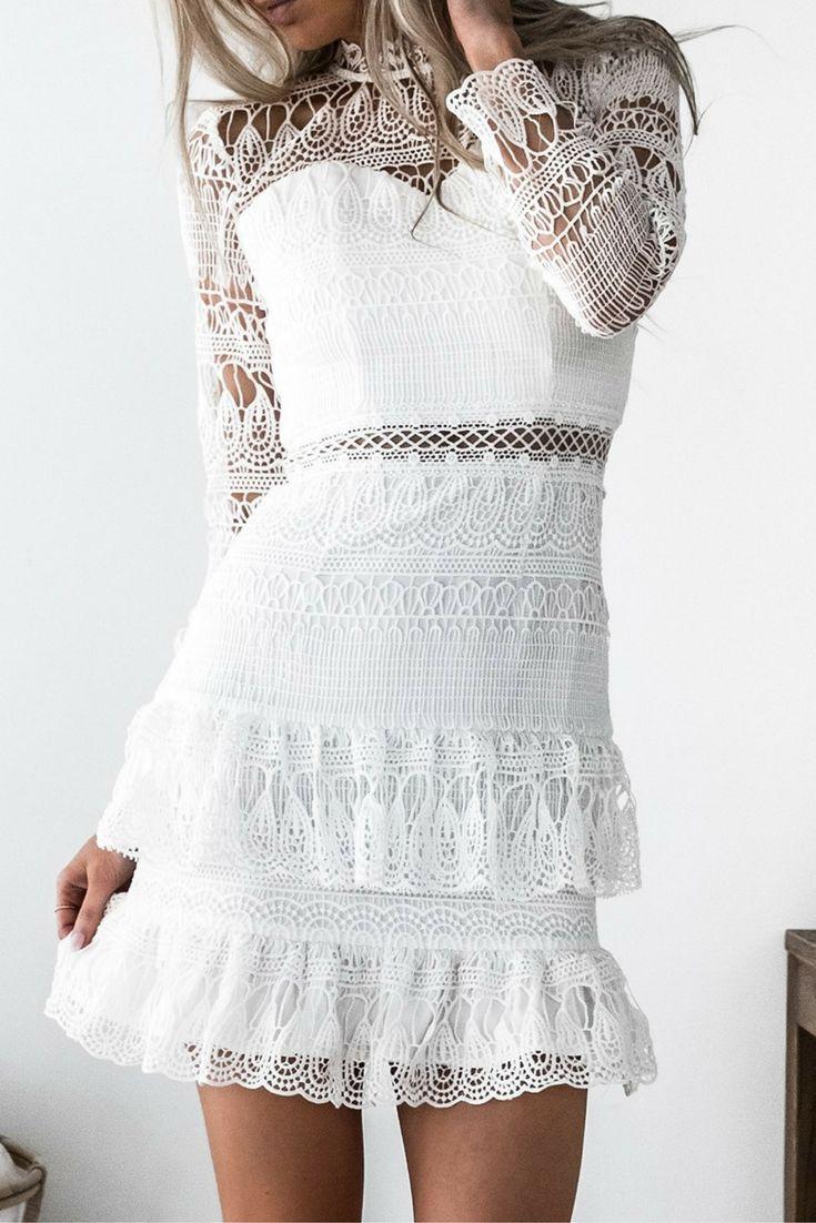 Victorian Dress White   One Fleur Womens Boutique