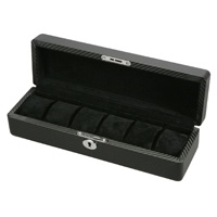 Diplomat Black Leather & Suede Interior Watch Storage Box
