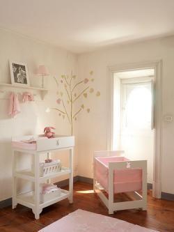 Me gusta la idea de poner colores claros y relajantes para mi pequeña.El minimalismo triunfa en la decoracion infantil.