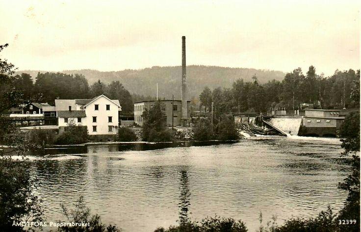 Värmland Eda kommun Åmotfors pappersbruket Utg Pressbyrån 1940-talet