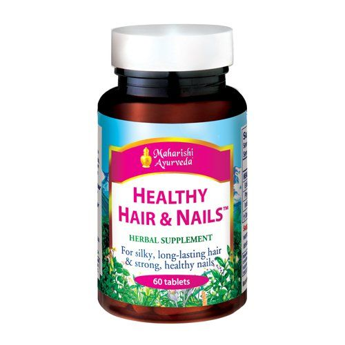Healthy Hair & Nails | 60 Herbal Tablets | Natural Herbal Supplement for Split Ends, Brittle Hair & Flaky Scalp | Nutritional Support for Nails | Supports Growth of Hair & Nails *** Click image to review more details.