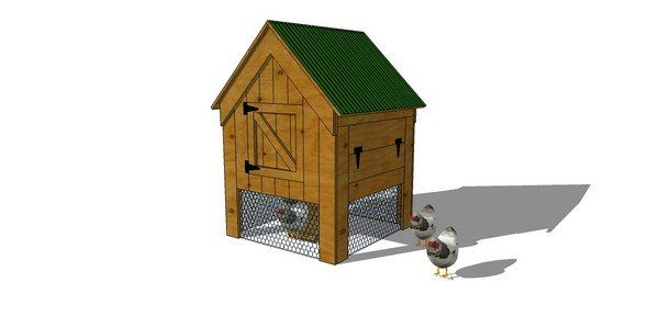 28 best small chicken coops images on pinterest chicken for Small backyard chicken coop plans free