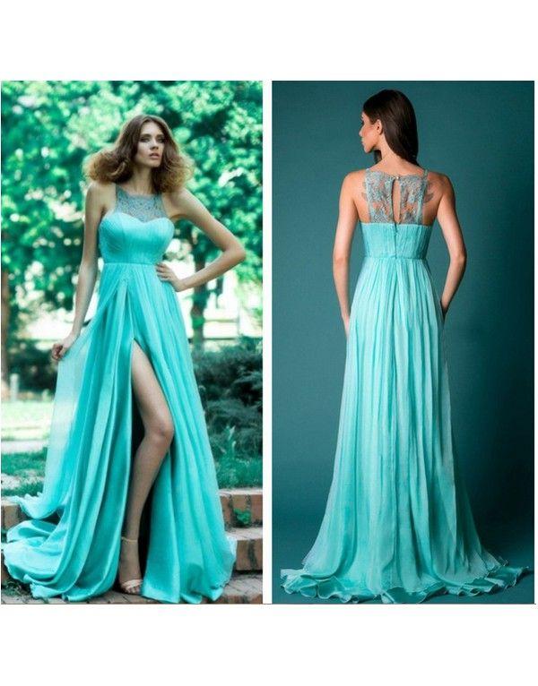 -tyrkysové zelené dlouhé společenské letní šaty Triss M - Hollywood Style E-Shop