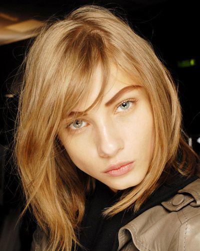 Frisur für herzförmiges Gesicht