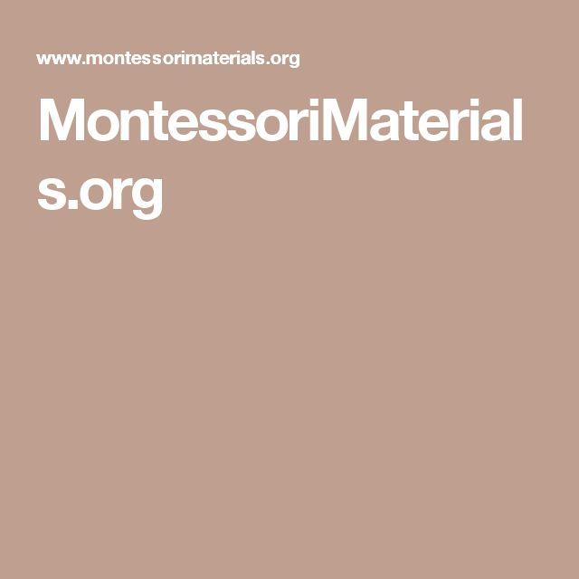 MontessoriMaterials.org