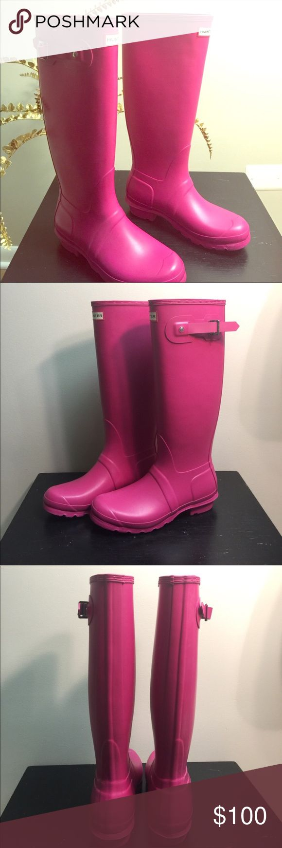 Hunter boots Tall pink hunter boots Hunter Boots Shoes Winter & Rain Boots