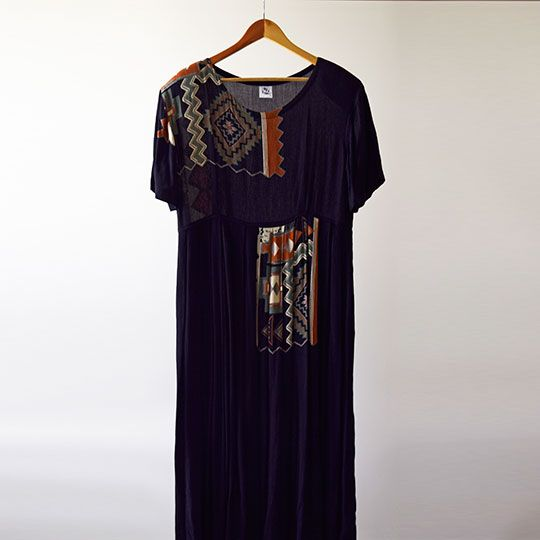 Made By Mee + Co | Black Aztec Dress