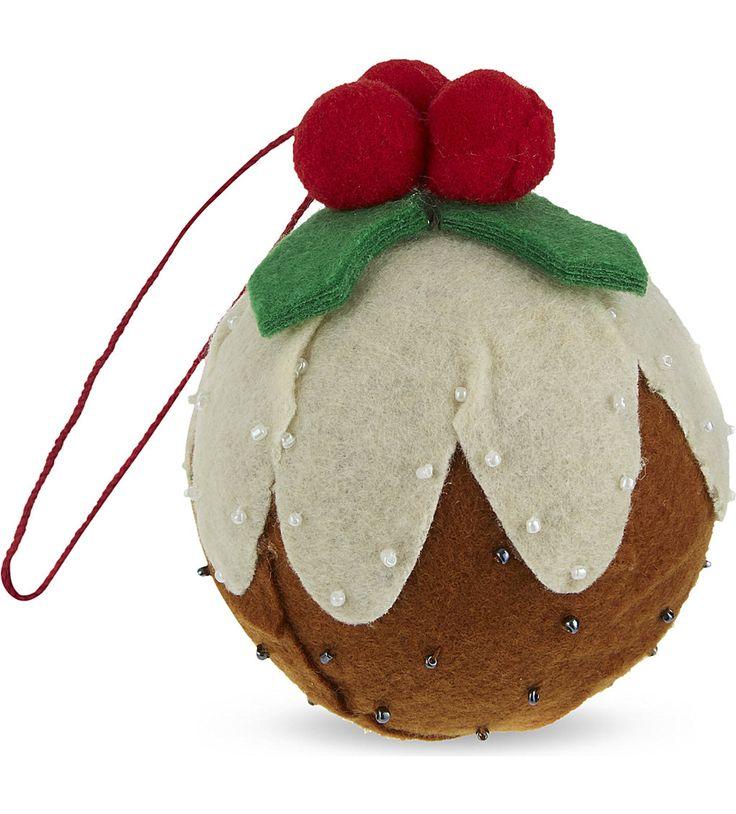 GISELA GRAHAM Christmas Pudding tree decoration