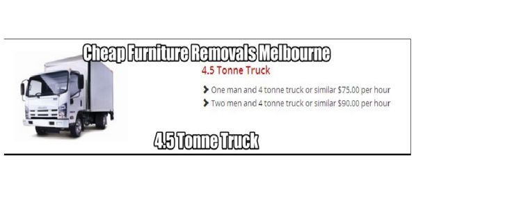 4.5 Tonne Truck  One man and 4 tonne truck or similar $75.00 per hour