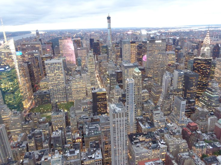 Skyline Manhattan dall'Empire State Bulding