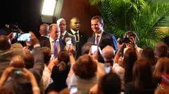 Los Reyes Don Felipe y Doña Letizia en la inauguración en San Juan, Puerto Rico del VII Congreso Internacional de la Lengua Española. 15.03.2016