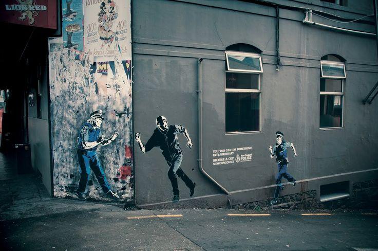 Street art per la Polizia di Stato neozelandese