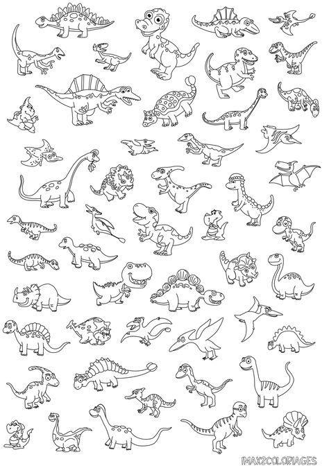 Jeux Coloriage Dinosaure.50 Dinosaures Rigolo La Grande Image Omalovanky Dinosaure
