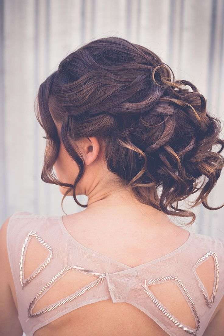 Classic bridesmaid wedding hair updo with curls | Sarah's Photography | See more: http://theweddingplaybook.com/ultimate-guide-bridesmaid-hair-makeup/
