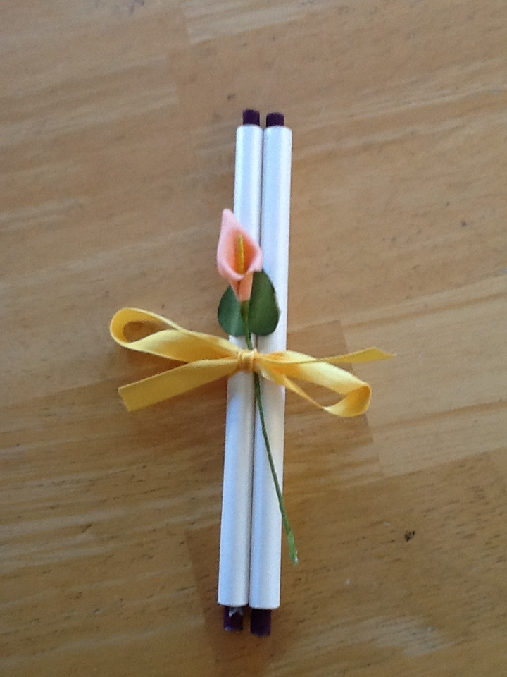 how to mail scroll wedding invitations%0A Wedding scroll done up