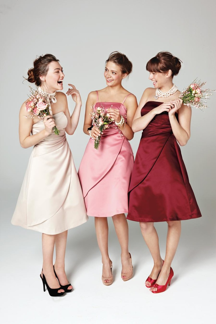 Dress your bridesmaids in gorgeous dresses that they feel great in!