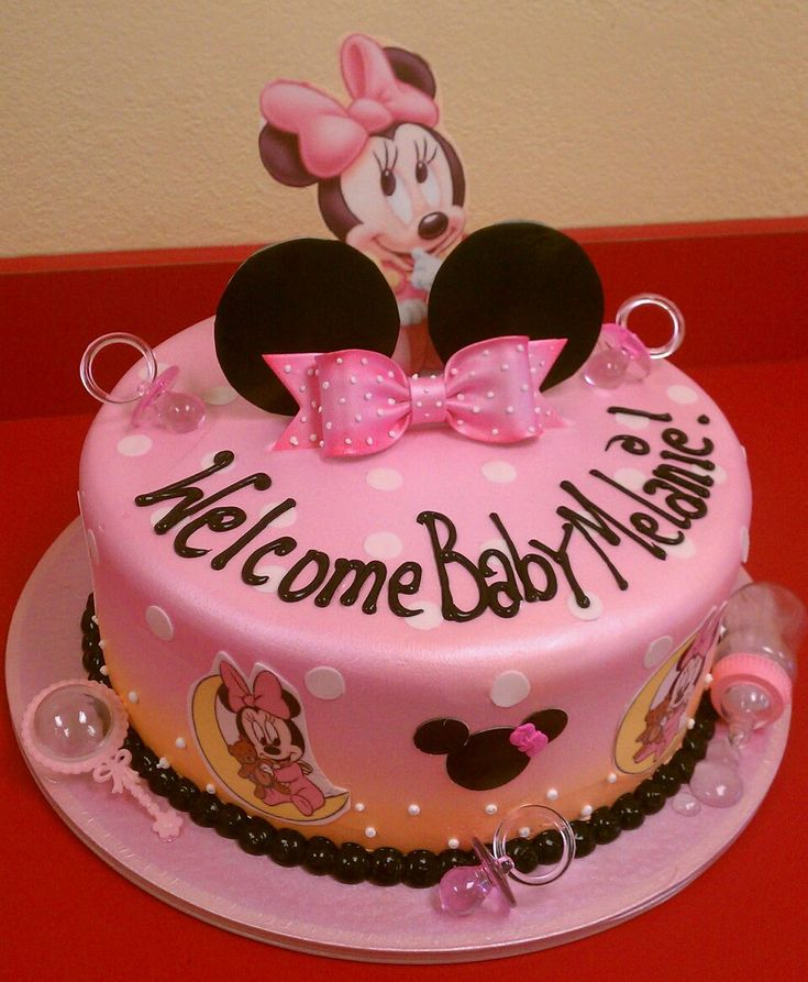 25 best ideas about baby minnie mouse cake on pinterest for Baby minnie mouse decoration ideas