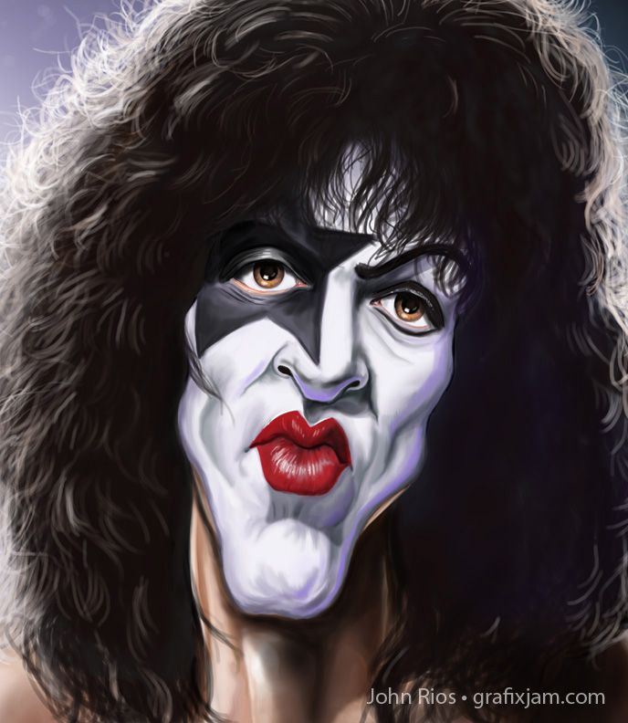 Paul Stanley of KISS (by John Rios)