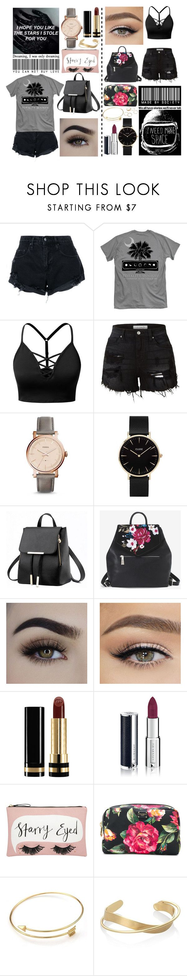 """""""Untitled #27"""" by deadgir1walking ❤ liked on Polyvore featuring Grotesk, Nobody Denim, J.TOMSON, LE3NO, FOSSIL, CLUSE, White House Black Market, Gucci, Givenchy and Accessorize"""