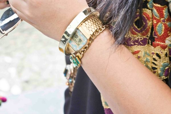 Casio gold watch & bracelets