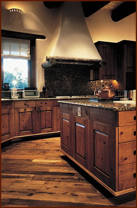 Kitchen w/hooded cooktop - Antique Distressed® Oak flooring